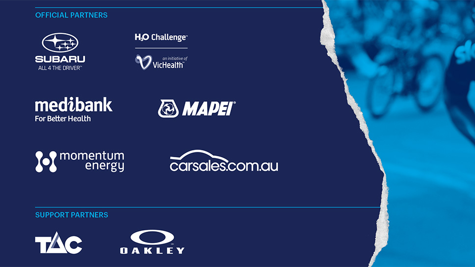 Official Partners announced for the Cadel Evans Great Ocean Road Race