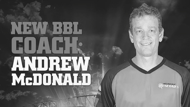 Renegades Appoint McDonald as BBL Head Coach