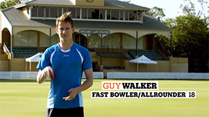 Guy Walker in Gatorade's Australian cricket promotion