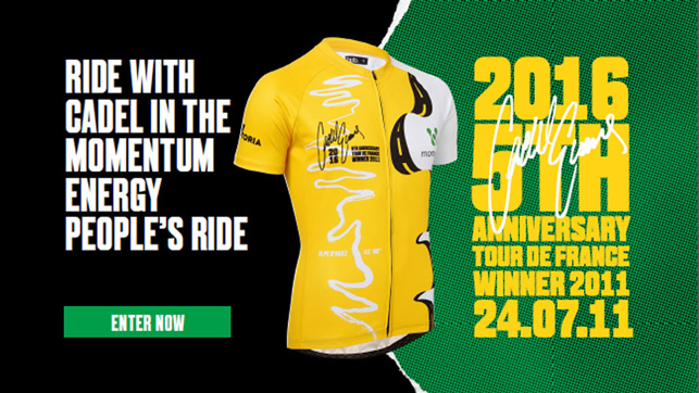 Commemorative jersey celebrates five years since Cadel Evans' TDF victory